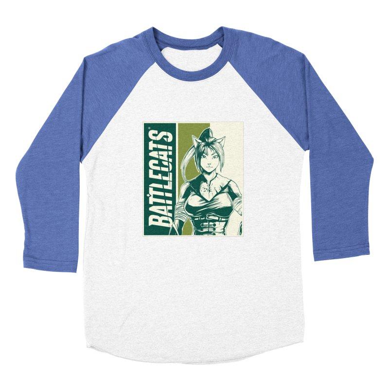 Battlecats - Kaleera Men's Baseball Triblend Longsleeve T-Shirt by Mad Cave Studios's Artist Shop
