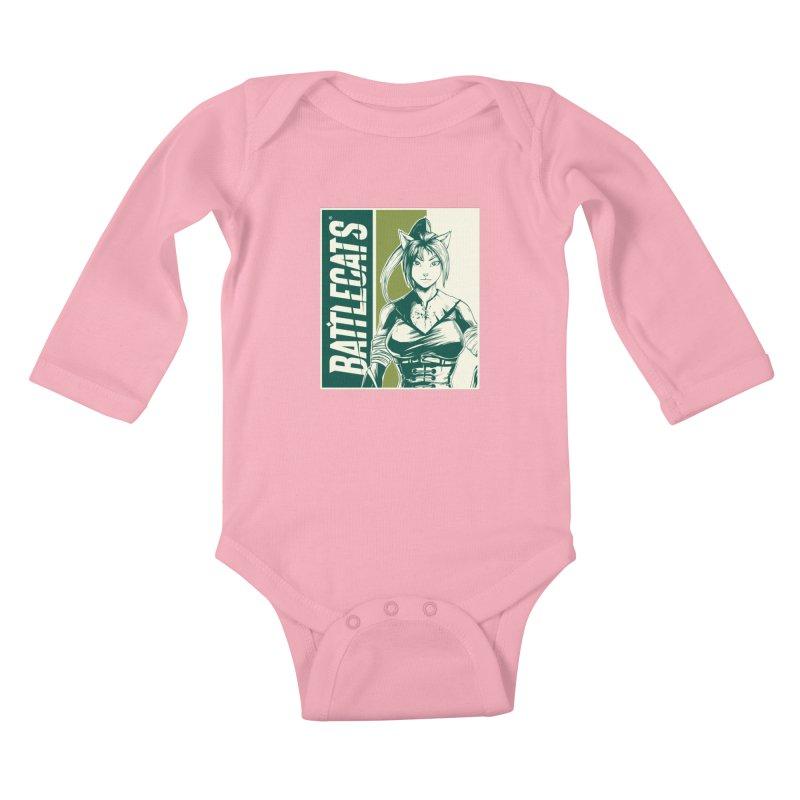 Battlecats - Kaleera Kids Baby Longsleeve Bodysuit by MadCaveStudios's Artist Shop