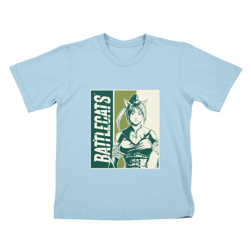 Battlecats - Kaleera Kids T-Shirt by Mad Cave Studios's Artist Shop