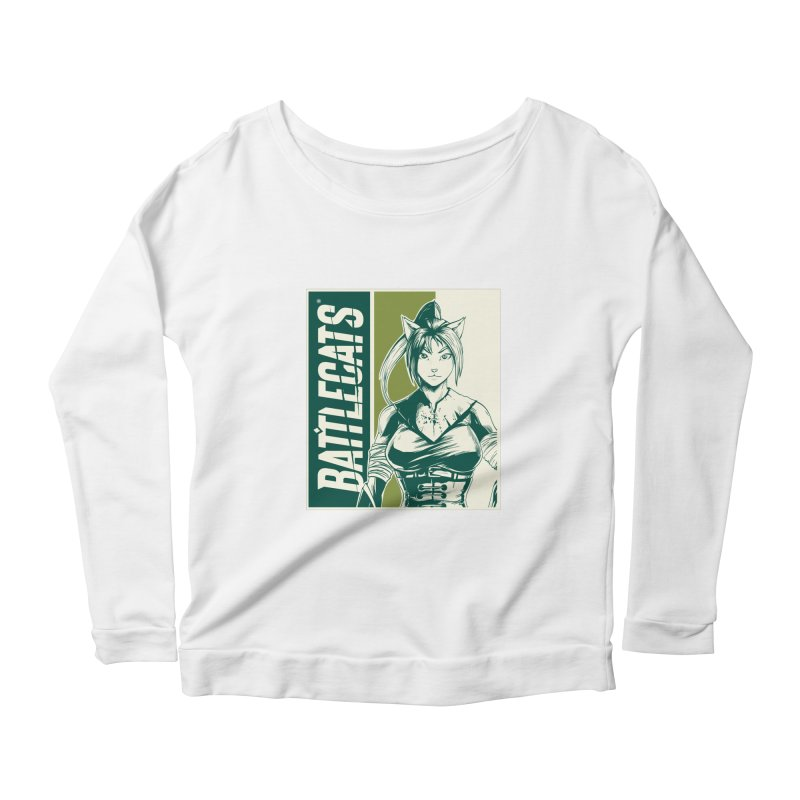 Battlecats - Kaleera Women's Scoop Neck Longsleeve T-Shirt by Mad Cave Studios's Artist Shop