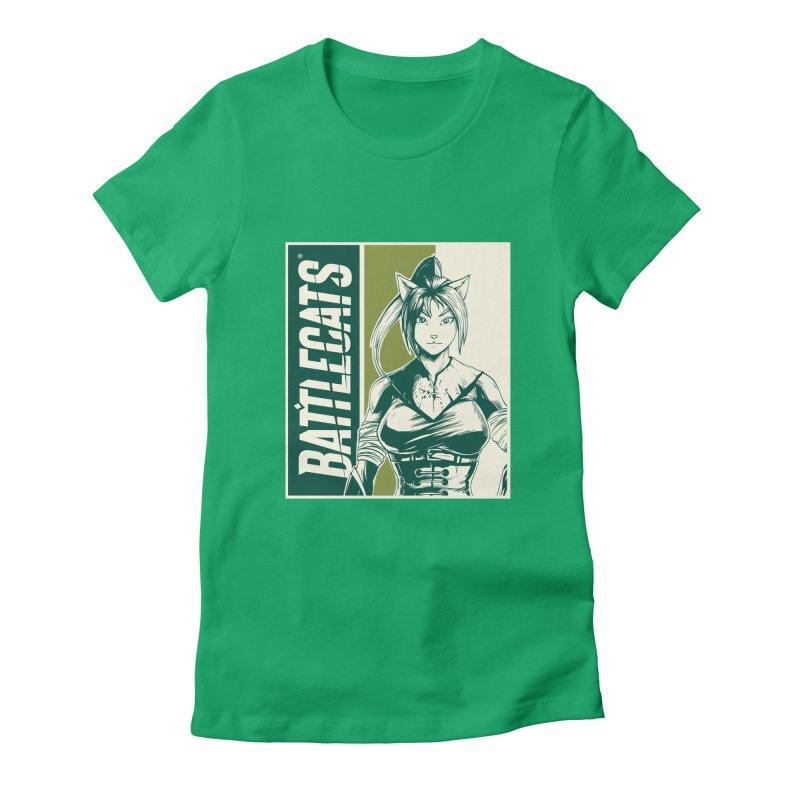 Battlecats - Kaleera Women's Fitted T-Shirt by Mad Cave Studios's Artist Shop
