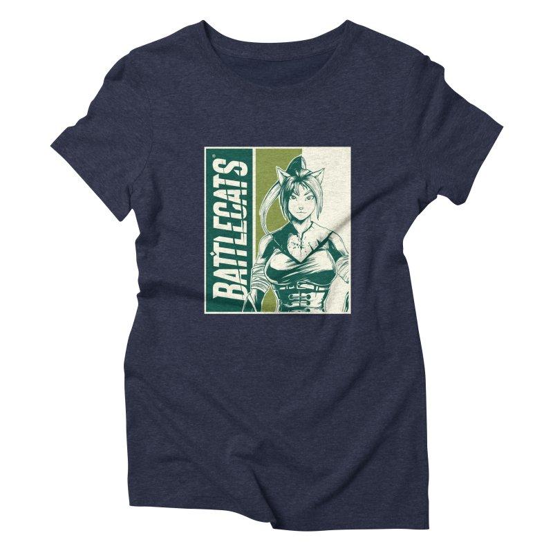 Battlecats - Kaleera Women's Triblend T-Shirt by Mad Cave Studios's Artist Shop