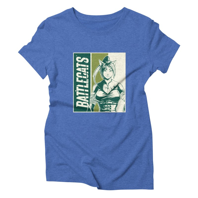 Battlecats - Kaleera Women's Triblend T-Shirt by Mad Cave Studios's Artist Shop