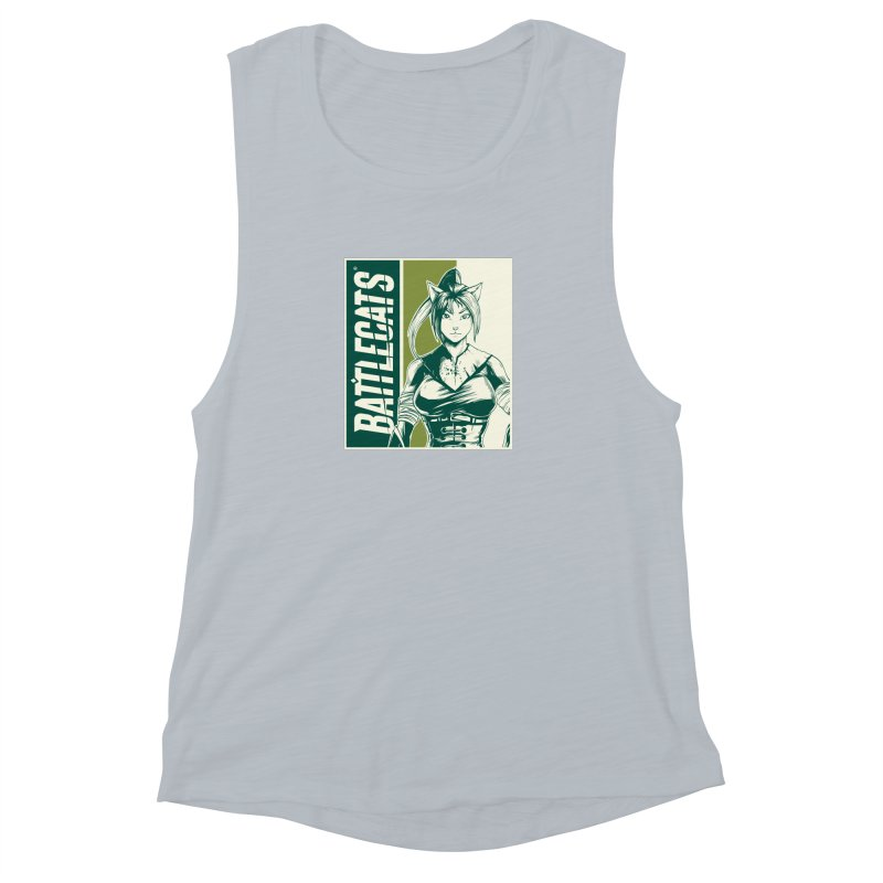 Battlecats - Kaleera Women's Muscle Tank by Mad Cave Studios's Artist Shop