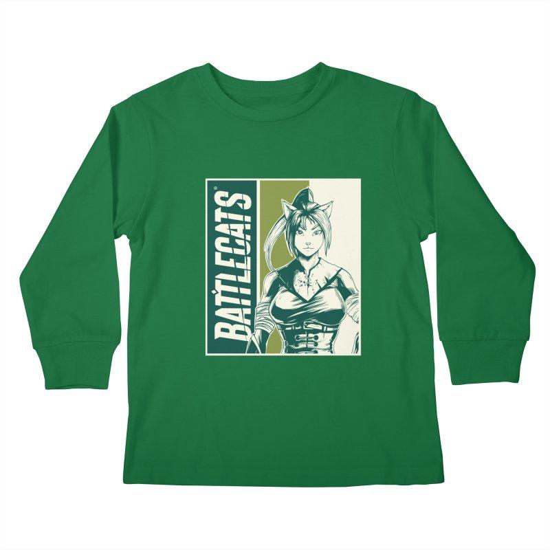 Battlecats - Kaleera Kids Longsleeve T-Shirt by MadCaveStudios's Artist Shop