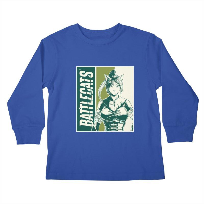 Battlecats - Kaleera Kids Longsleeve T-Shirt by Mad Cave Studios's Artist Shop