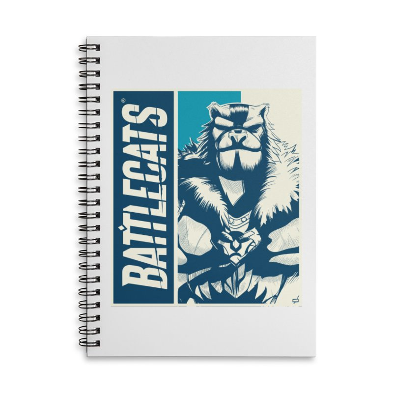 Battlecats - Kelthan Accessories Lined Spiral Notebook by Mad Cave Studios's Artist Shop