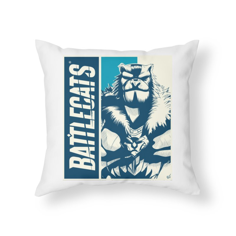 Battlecats - Kelthan Home Throw Pillow by Mad Cave Studios's Artist Shop