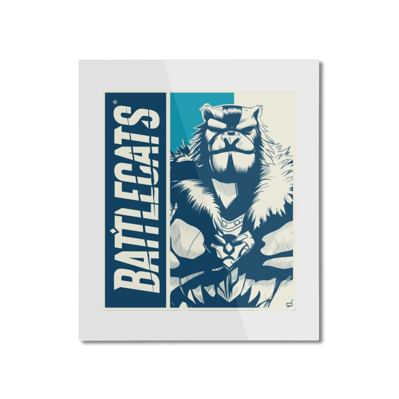 Battlecats - Kelthan Home Mounted Aluminum Print by Mad Cave Studios's Artist Shop