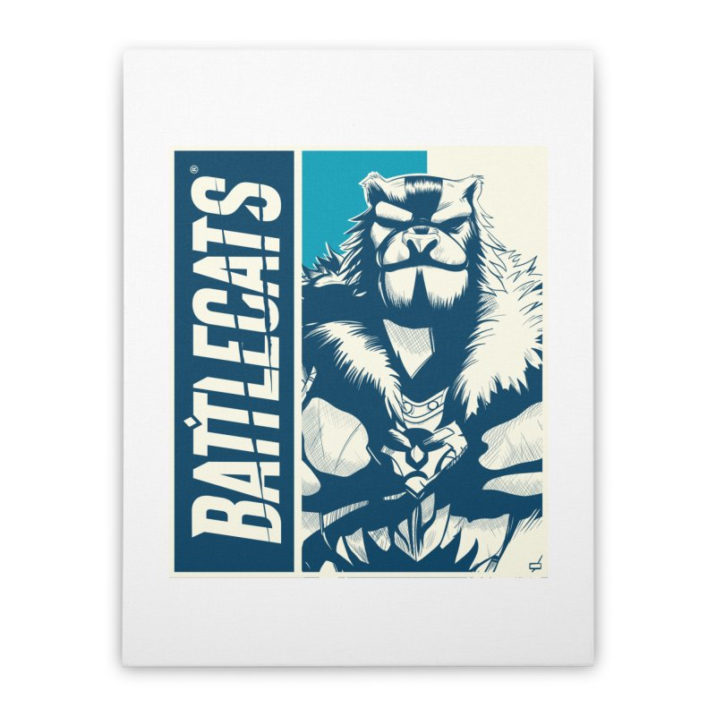 Battlecats - Kelthan Home Stretched Canvas by Mad Cave Studios's Artist Shop