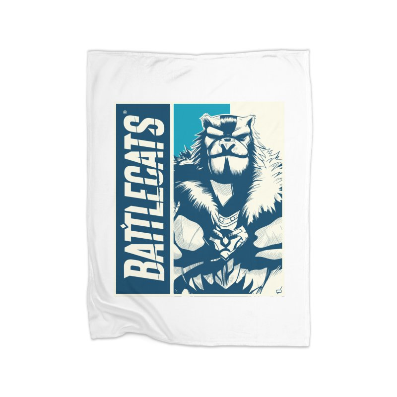 Battlecats - Kelthan Home Fleece Blanket Blanket by Mad Cave Studios's Artist Shop