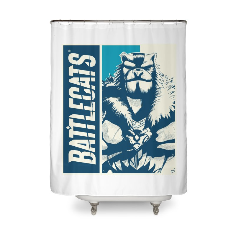 Battlecats - Kelthan Home Shower Curtain by Mad Cave Studios's Artist Shop