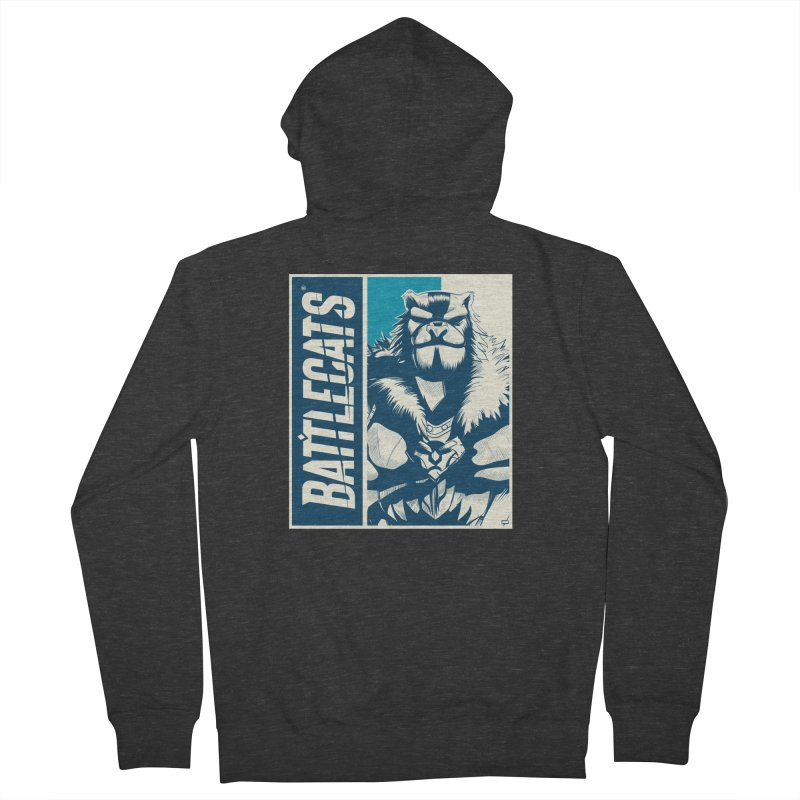 Battlecats - Kelthan Women's French Terry Zip-Up Hoody by MadCaveStudios's Artist Shop