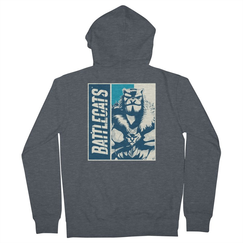 Battlecats - Kelthan Women's French Terry Zip-Up Hoody by Mad Cave Studios's Artist Shop
