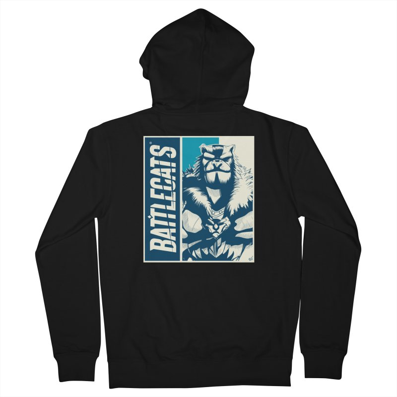 Battlecats - Kelthan Men's French Terry Zip-Up Hoody by Mad Cave Studios's Artist Shop