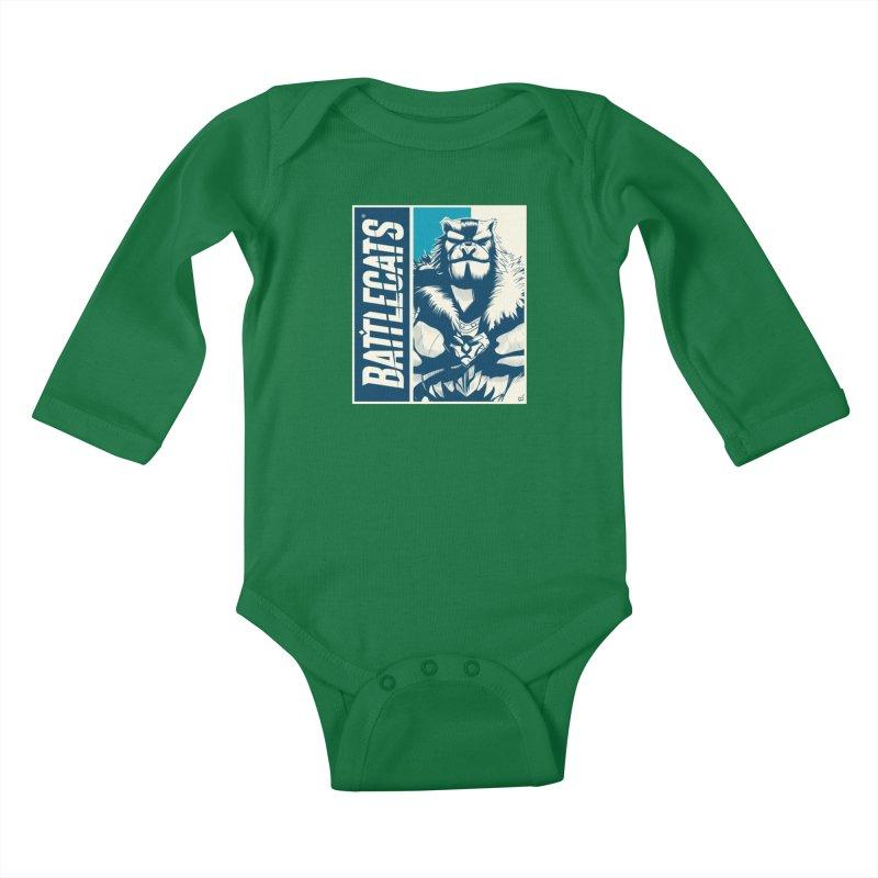 Battlecats - Kelthan Kids Baby Longsleeve Bodysuit by Mad Cave Studios's Artist Shop