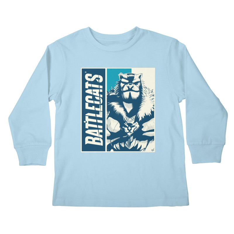Battlecats - Kelthan Kids Longsleeve T-Shirt by Mad Cave Studios's Artist Shop
