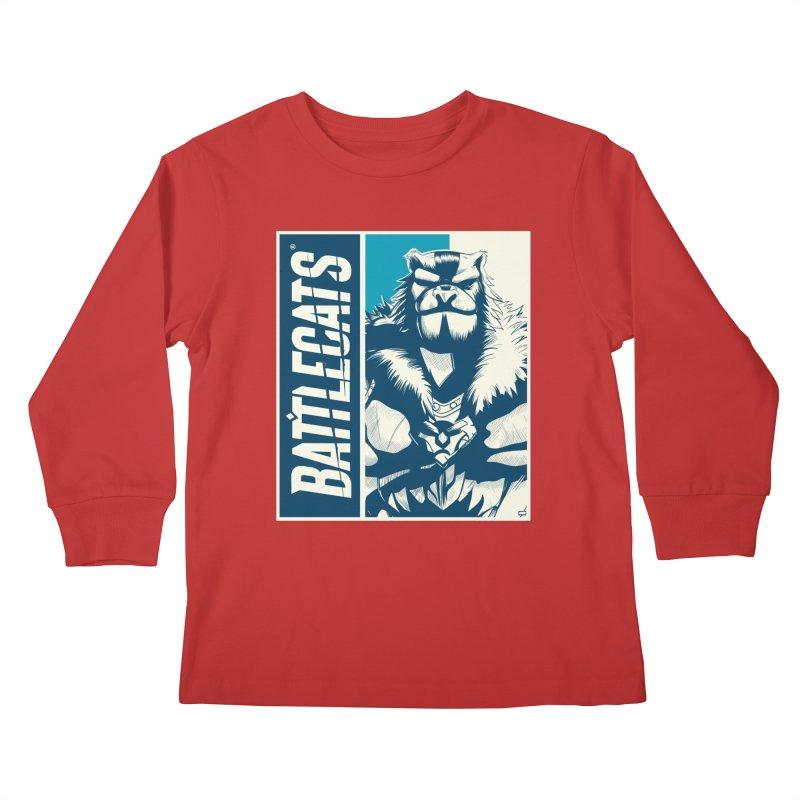 Battlecats - Kelthan Kids Longsleeve T-Shirt by Mad Cave Studios's Artist Shop