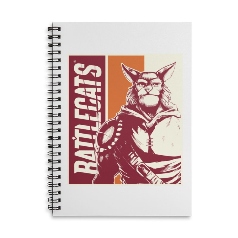 Battlecats - Mekkar Accessories Lined Spiral Notebook by Mad Cave Studios's Artist Shop