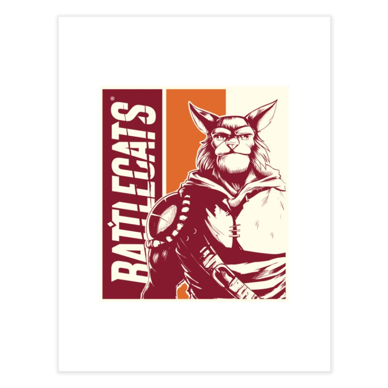 Battlecats - Mekkar Home Fine Art Print by Mad Cave Studios's Artist Shop