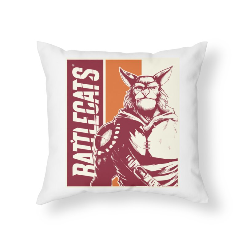 Battlecats - Mekkar Home Throw Pillow by Mad Cave Studios's Artist Shop