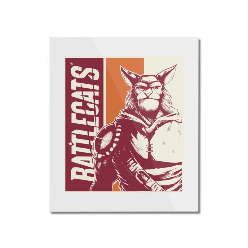 Battlecats - Mekkar Home Mounted Acrylic Print by Mad Cave Studios's Artist Shop