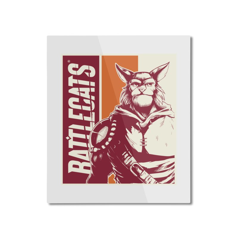 Battlecats - Mekkar Home Mounted Aluminum Print by Mad Cave Studios's Artist Shop