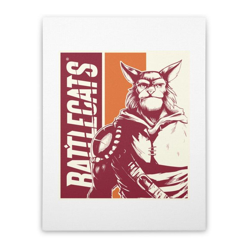 Battlecats - Mekkar Home Stretched Canvas by Mad Cave Studios's Artist Shop