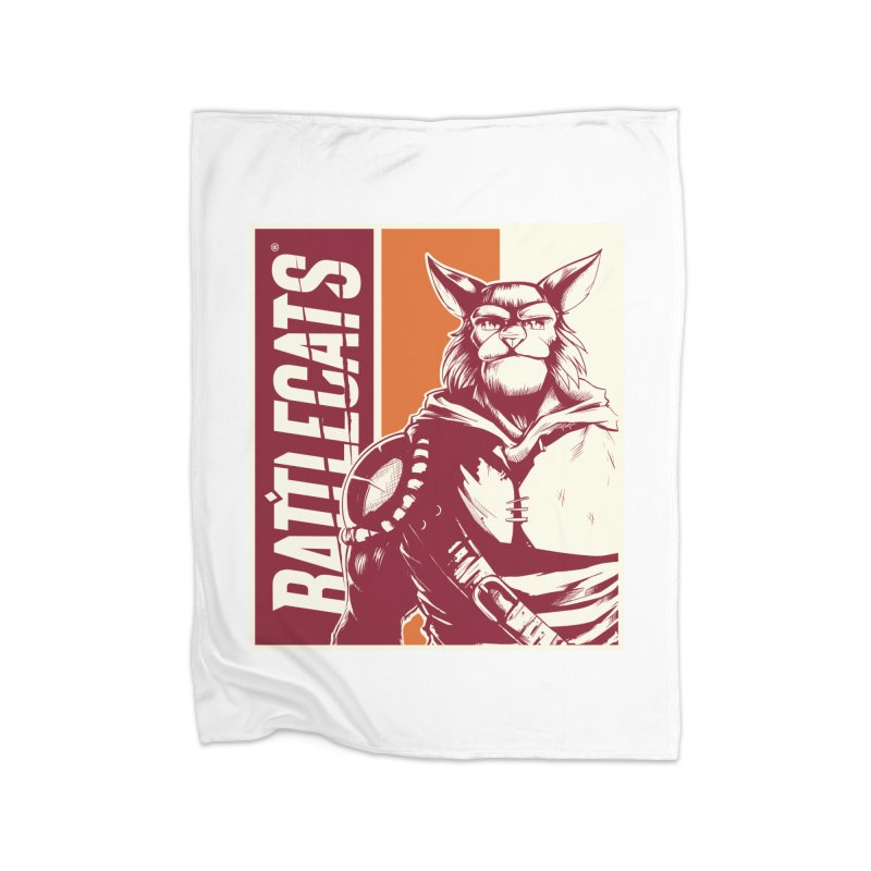 Battlecats - Mekkar Home Fleece Blanket Blanket by Mad Cave Studios's Artist Shop
