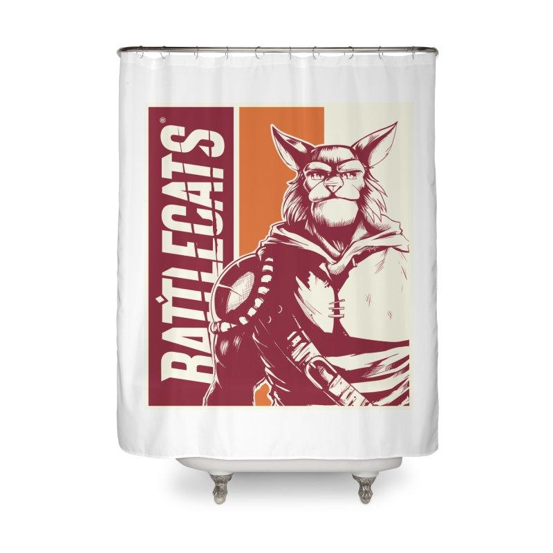 Battlecats - Mekkar Home Shower Curtain by Mad Cave Studios's Artist Shop