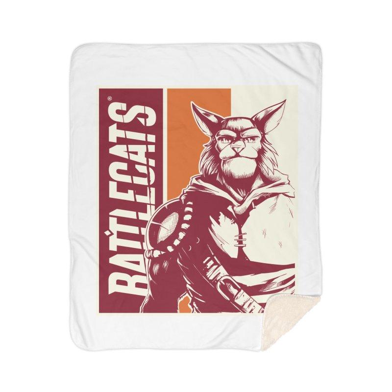 Battlecats - Mekkar Home Sherpa Blanket Blanket by Mad Cave Studios's Artist Shop