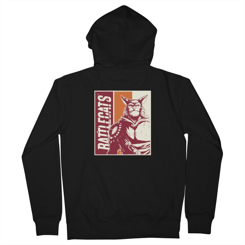Battlecats - Mekkar Women's French Terry Zip-Up Hoody by Mad Cave Studios's Artist Shop