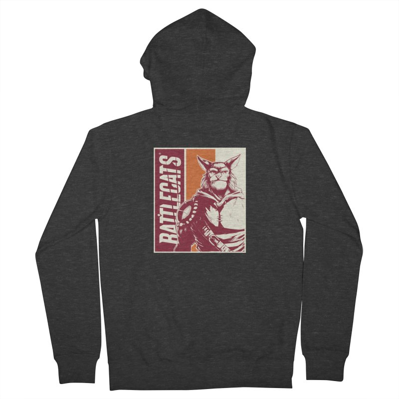 Battlecats - Mekkar Men's French Terry Zip-Up Hoody by Mad Cave Studios's Artist Shop