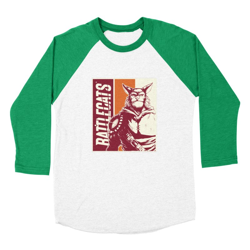 Battlecats - Mekkar Men's Baseball Triblend Longsleeve T-Shirt by Mad Cave Studios's Artist Shop