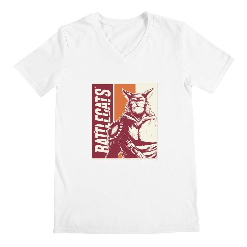 Battlecats - Mekkar Men's Regular V-Neck by Mad Cave Studios's Artist Shop