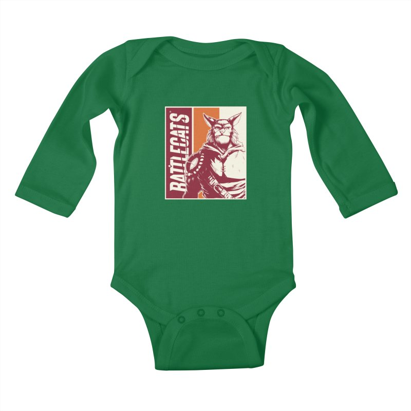 Battlecats - Mekkar Kids Baby Longsleeve Bodysuit by Mad Cave Studios's Artist Shop