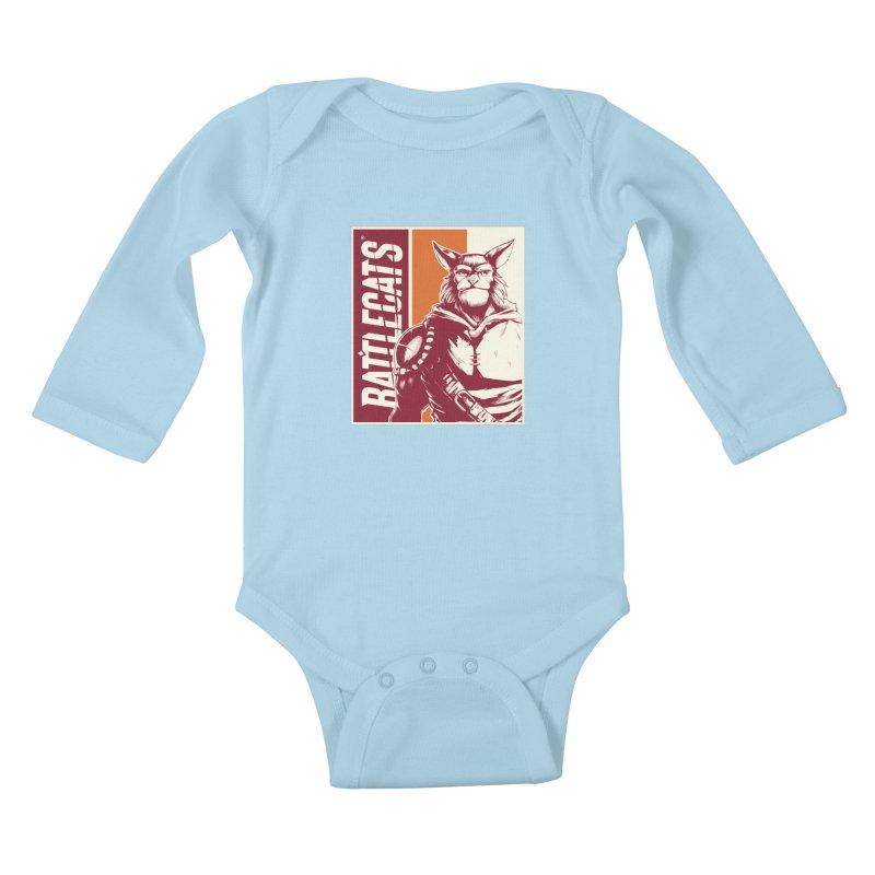 Battlecats - Mekkar Kids Baby Longsleeve Bodysuit by MadCaveStudios's Artist Shop