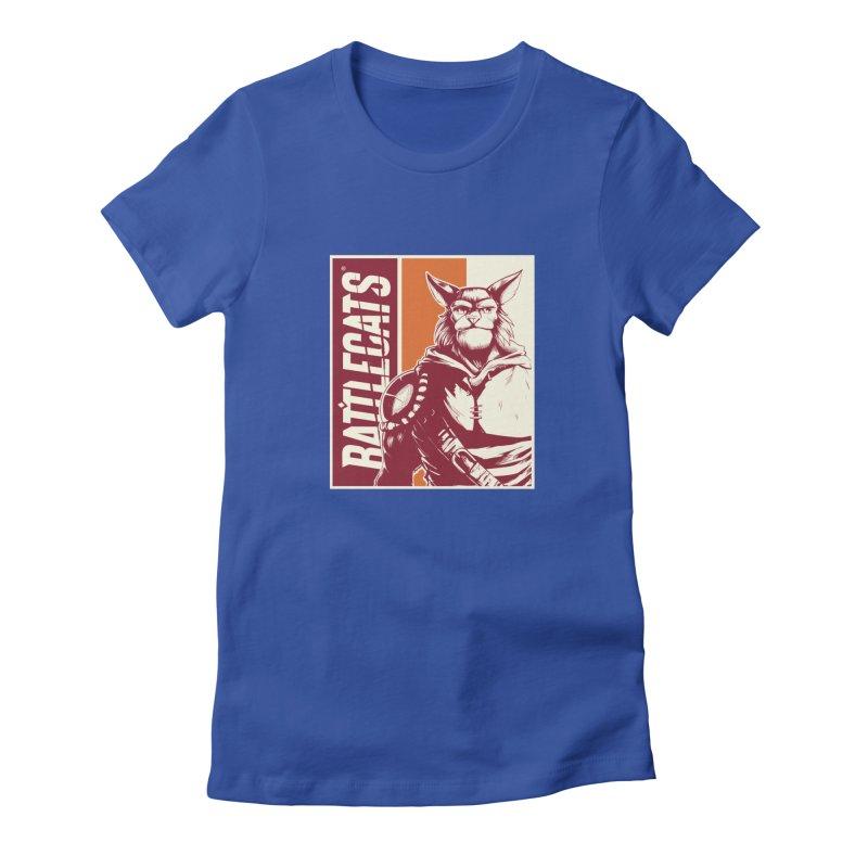 Battlecats - Mekkar Women's Fitted T-Shirt by Mad Cave Studios's Artist Shop