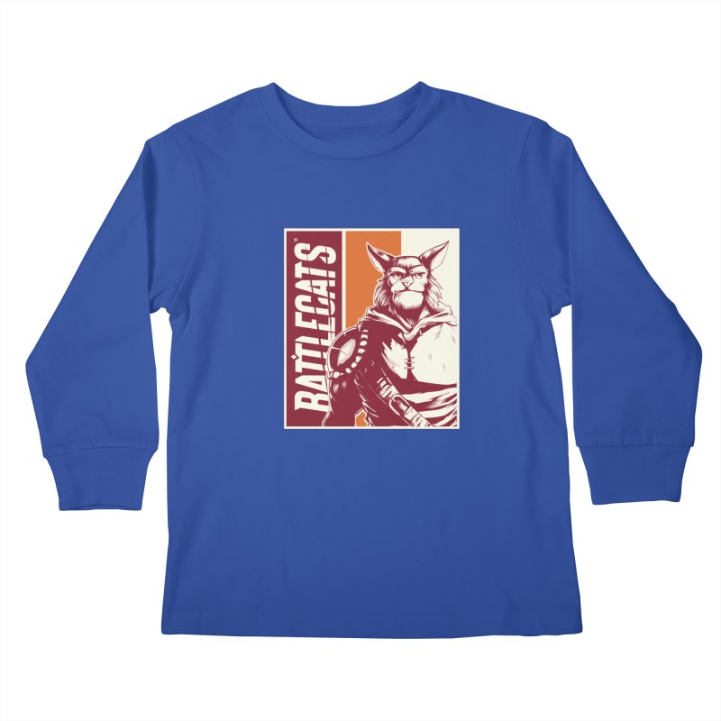 Battlecats - Mekkar Kids Longsleeve T-Shirt by MadCaveStudios's Artist Shop