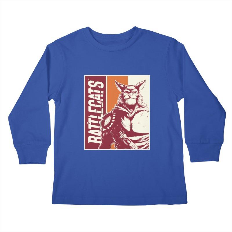 Battlecats - Mekkar Kids Longsleeve T-Shirt by Mad Cave Studios's Artist Shop