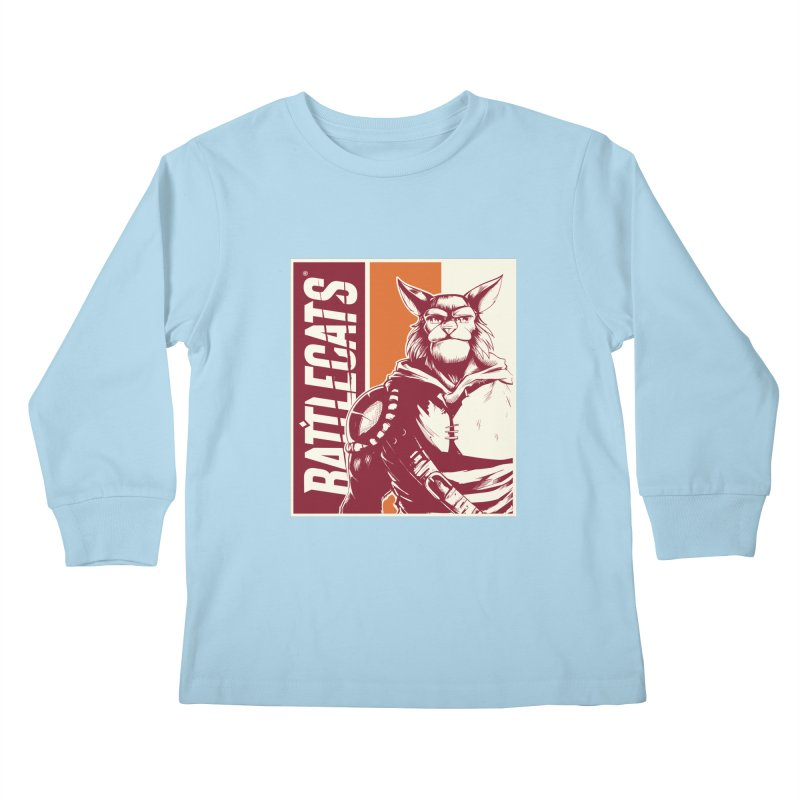 Battlecats - Mekkar Kids Longsleeve T-Shirt by Mad Cave Studios's Artist Shop