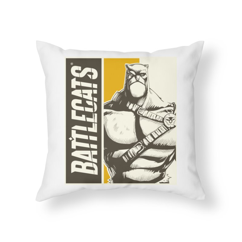 Battlecats - Zorien Home Throw Pillow by Mad Cave Studios's Artist Shop