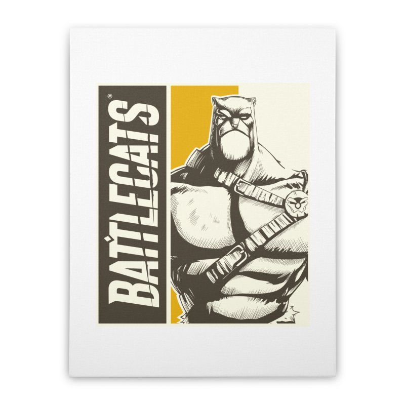Battlecats - Zorien Home Stretched Canvas by Mad Cave Studios's Artist Shop