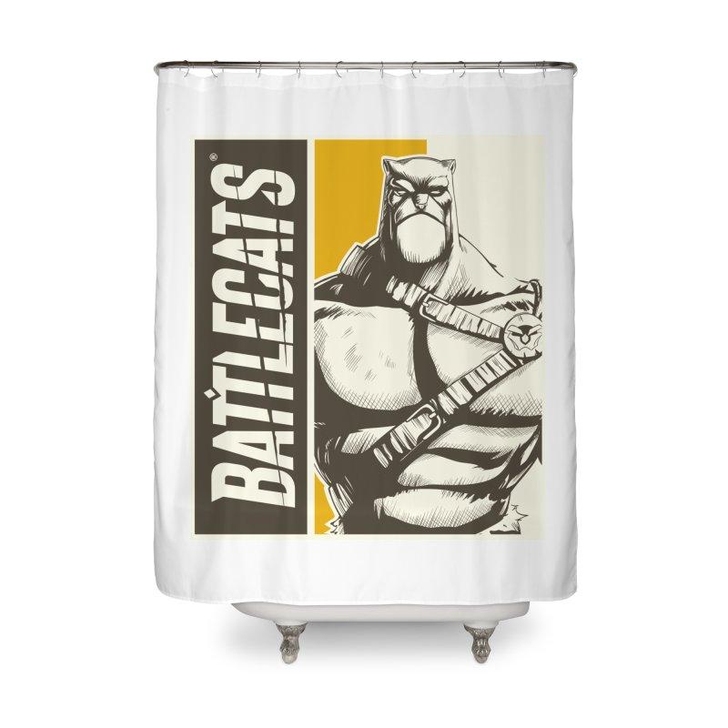Battlecats - Zorien Home Shower Curtain by Mad Cave Studios's Artist Shop