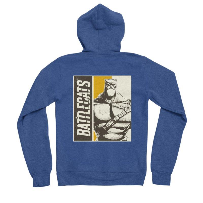 Battlecats - Zorien Men's Sponge Fleece Zip-Up Hoody by MadCaveStudios's Artist Shop