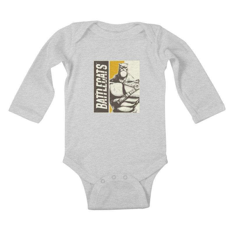 Battlecats - Zorien Kids Baby Longsleeve Bodysuit by Mad Cave Studios's Artist Shop