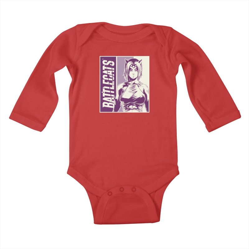 Battlecats - Vaela Kids Baby Longsleeve Bodysuit by MadCaveStudios's Artist Shop