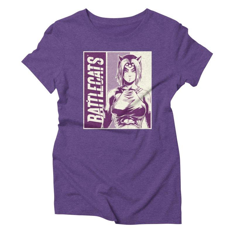 Battlecats - Vaela Women's Triblend T-Shirt by Mad Cave Studios's Artist Shop