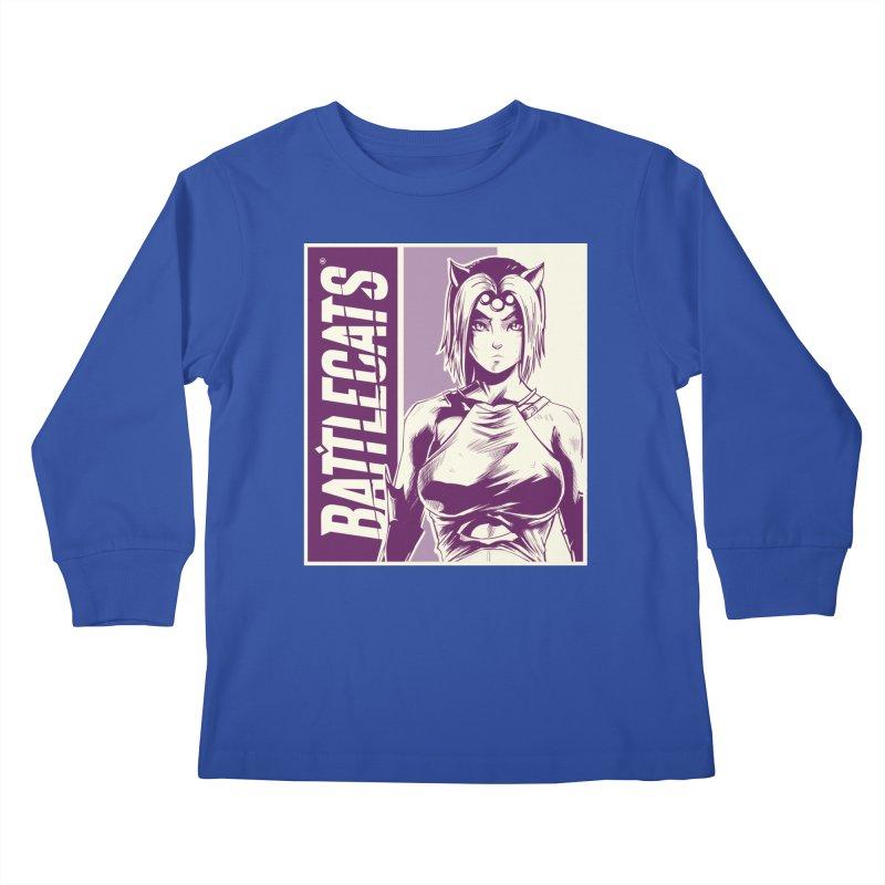 Battlecats - Vaela Kids Longsleeve T-Shirt by Mad Cave Studios's Artist Shop