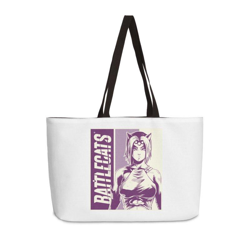 Battlecats - Vaela Accessories Weekender Bag Bag by Mad Cave Studios's Artist Shop